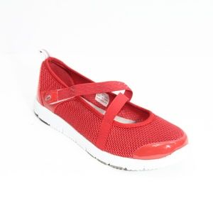 Propet Mary Jane Shoes TravelWalker Evo Flats Red